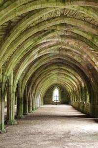 Vaulted Cellar Fountains Abbey Ruins Yorkshire England Journal: 150 Page Lined Notebook/Diary