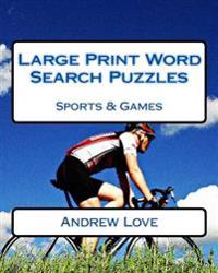 Large Print Word Search Puzzles Sports & Games
