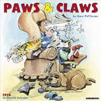 Gary Patterson's Paws N Claws 2018 Wall Calendar