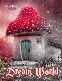Dream World Grayscale Coloring Book