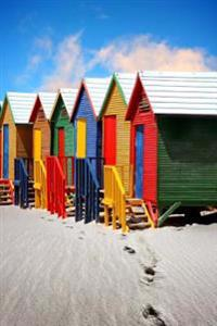Bright Colorful Beach Huts in St James Cape Town South Africa Journal: 150 Page Lined Notebook/Diary