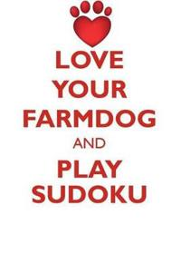 Love Your Farmdog and Play Sudoku Danish Swedish Farmdog Sudoku Level 1 of 15