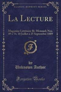 La Lecture, Vol. 9