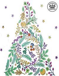 Notebook Kingdom Christmas Series: Christmas Journal/Diary Lined Paper 100 Pages 8.5x11 Composition Book Flower Christmas Tree