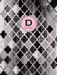 Initial D Monogram Journal - Dot Grid, Moroccan Black, White & Blush Pink: Classic, Soft Cover Notebook