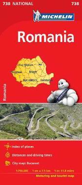Rumänien Michelin 738 karta : 1:750000