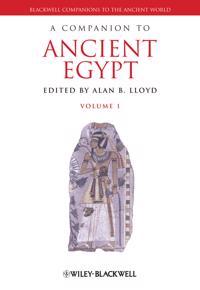 A Companion to Ancient Egypt, 2 Volume Set