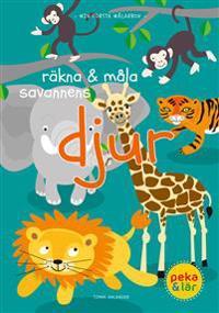 Räkna & måla savannens djur