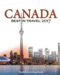 Canada Sketch Coloring Book: Best Intravel 2017