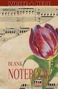 Write Here Notebooks: Floral Journal/Diary/Notebook Blank Paper 100 Pages 5x8 Composition Book Musical Flowers