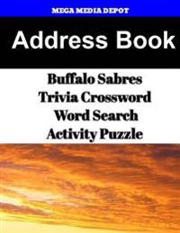 Address Book Buffalo Sabres Trivia Crossword & Wordsearch Activity Puzzle