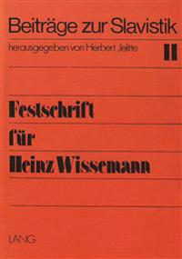 Festschrift Fuer Heinz Wissemann