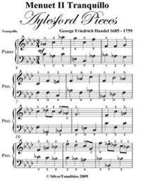 Menuet 2 Tranquillo Aylesford Pieces - Easy Piano Sheet Music
