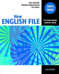 New english file pre-intermediate: students book - six-level general englis