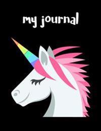 My Journal: Unicorn Animal Emoji Journal - Blank Unlined Notebook - 8.5x11