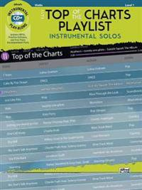 Easy Top of the Charts Playlist Instrumental Solos for Strings: Violin, Book & CD