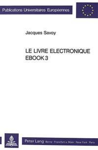 Le Livre Electronique Ebook3