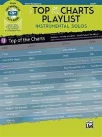 Easy Top of the Charts Playlist Instrumental Solos: Tenor Sax, Book & CD