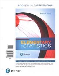 Elementary Statistics, Books a la Carte Edition with Integrated Review and Guided Workbook Plus Mylab Statistics with Pearson Etext -- Access Card Pac