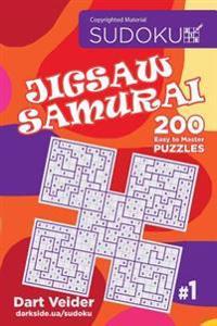 Sudoku Jigsaw Samurai - 200 Easy to Master Puzzles (Volume 1)