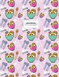 Journal (Diary, Notebook): 8.5 X 11, Lined. Pink Breakfast. Soft Cover