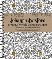 Johanna Basford 2017-2018 16-Month Coloring Weekly Planner Calendar