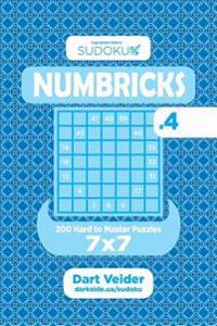 Sudoku Numbricks - 200 Hard to Master Puzzles 7x7 (Volume 4)