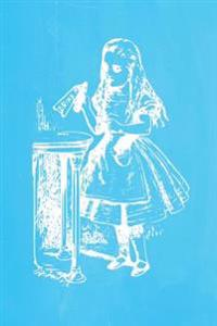Alice in Wonderland Pastel Chalkboard Journal - Drink Me! (Light Blue): 100 Page 6 X 9 Ruled Notebook: Inspirational Journal, Blank Notebook, Blank Jo