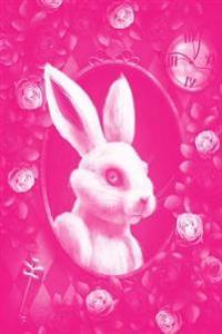 Alice in Wonderland Pastel Modern Journal - Outwards White Rabbit (Pink): 100 Page 6 X 9 Ruled Notebook: Inspirational Journal, Blank Notebook, Blank