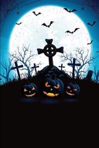 Jack-O-Lantern Bat Graveyard Grid Notebook: 150 Page Grid Notebook Journal Diary