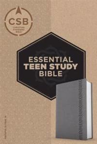CSB Essential Teen Study Bible, Personal Size, Gray Leathertouch