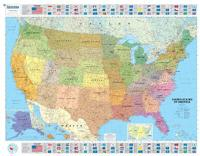 USA Political - Michelin rolled & tubed wall map Encapsulated