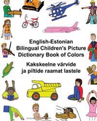 English-Estonian Bilingual Children's Picture Dictionary Book of Colors