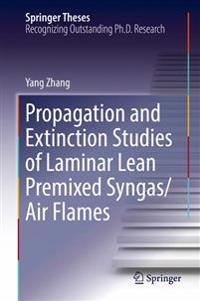 Propagation and Extinction Studies of Laminar Lean Premixed Syngas/Air Flames