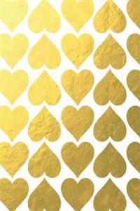 Gold Foil Hearts Notebook 6*9