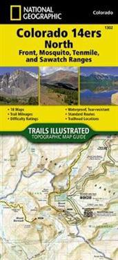 Colorado 14ers North [sawatch, Mosquito, And Front Ranges] Adventure Map