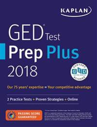 Kaplan GED Test Prep Plus 2018