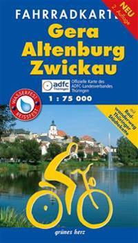Fahrradkarte Gera, Altenburg, Zwickau 1:75.000
