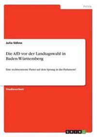 Die Afd VOR Der Landtagswahl in Baden-Wurttemberg