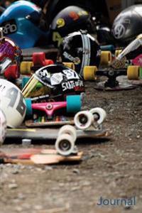 Journal: Skateboard Helmets: Longboard Racing Helmets Blank Journal