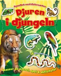 Djuren i djungeln – pysselbok med klistermärken