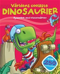 Världens coolaste dinosaurier – pysselbok med klistermärken