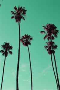 Journal: Mint Green Palm Trees, Santa Barbara, 150 Lined Sheet, 6x9