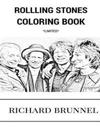 Rolling Stones Coloring Book: English Blue Masters and Rock and Roll Legends Mick Jagger and Keith Richards Inspired Adult Coloring Book