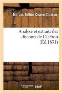 Analyse Et Extraits Des Discours de Ciceron