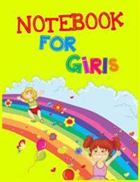 Notebook for Girls: 8.5 X 11, 108 Lined Pages (Diary, Notebook, Journal, Workbook)