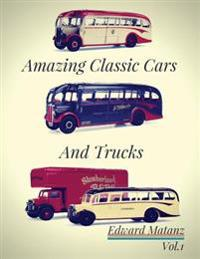 Picture Cars: Photo Book Amazing Classic Cars and Trucks: Classic Cars Decor, Classic Cars Model, Classic Cars Poster, Class Bus Toy