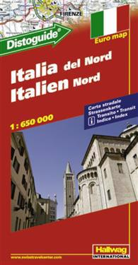 Karta Nord Italien.Norra Italien Distoguide Hallwag Karta 1 650000 Bocker