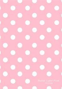 Bullet Light Pink Journal: Bullet Grid Journal Light Pink Polka Dots, Regular (7 X 10), 150 Dotted Pages, Medium Spaced, Soft Cover
