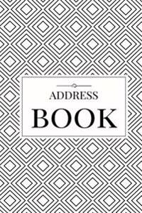 Black Design Address Book: For Contacts, Addresses, Phone Numbers, Emails & Birthdays